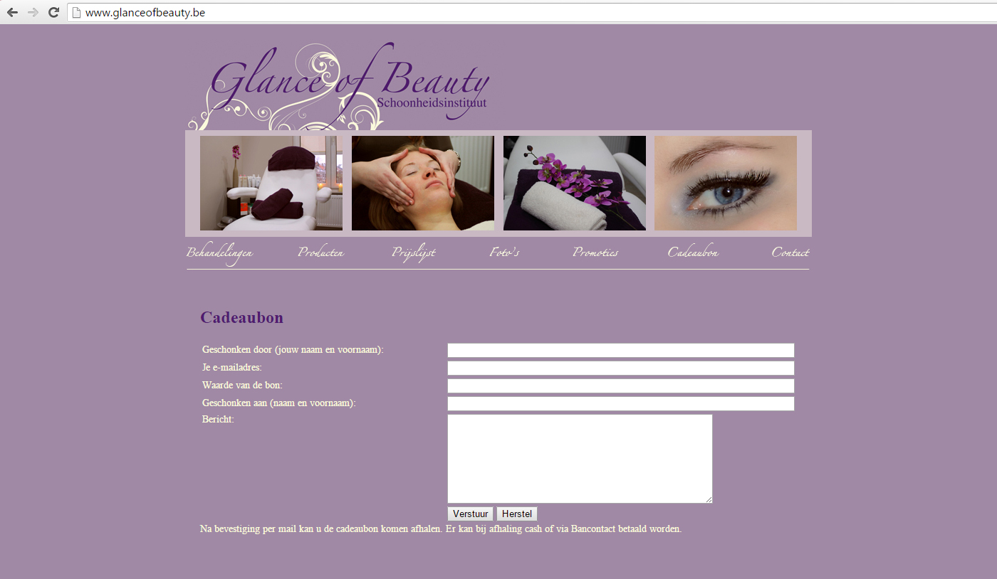 Website Glance Of Beauty