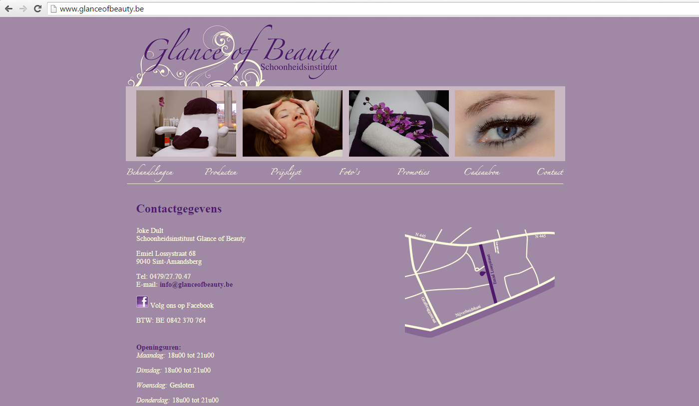 Webdesign Glance Of Beauty