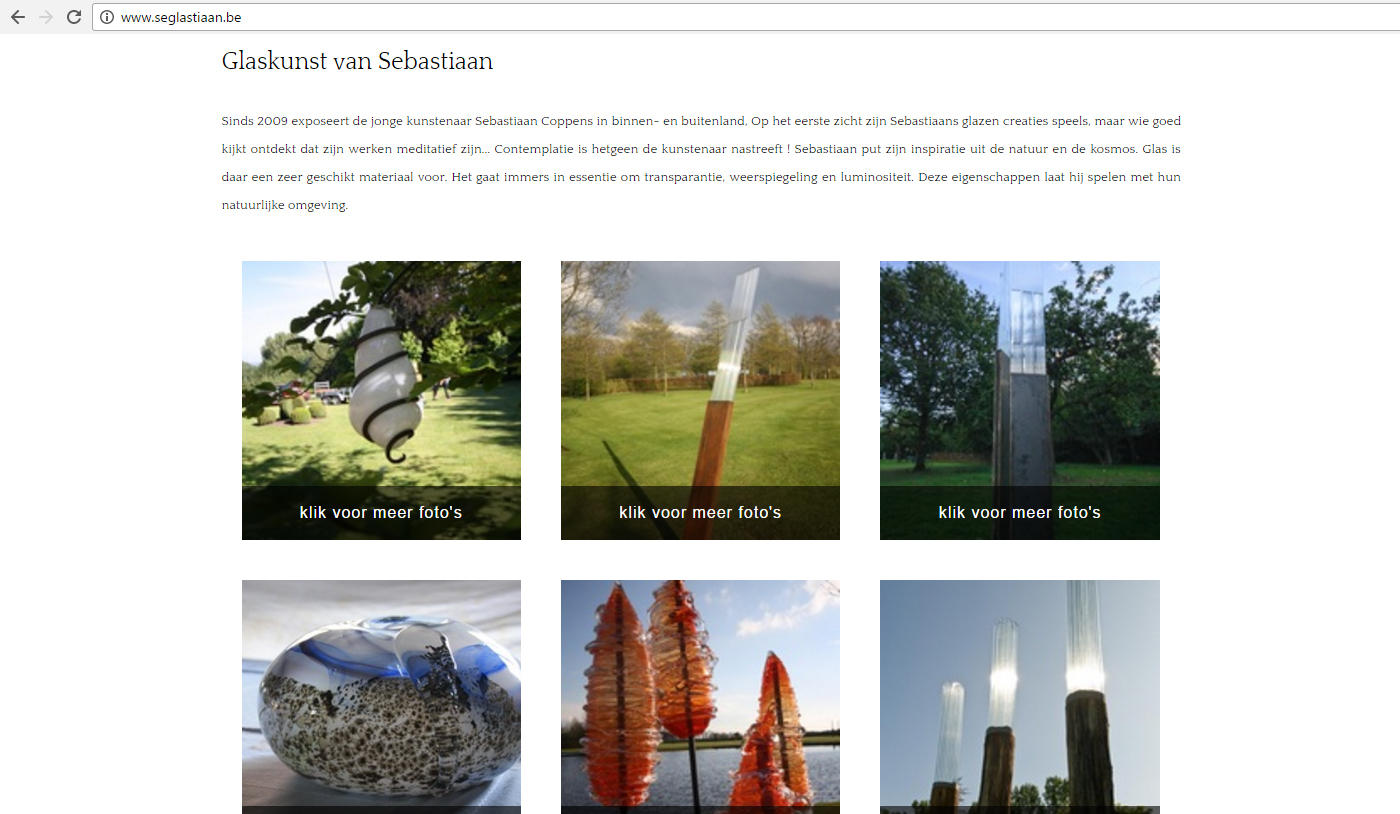 webdesign en website onderhoud Seglastiaan glaskunstenaar